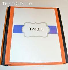 The O.C.D. Life: Binders 101: Taxes!