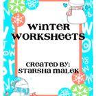 Winter Worksheets (S.Malek Freebie)