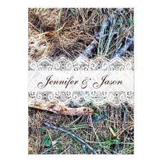 Rustic Country Camo Camouflage Wedding Invitations