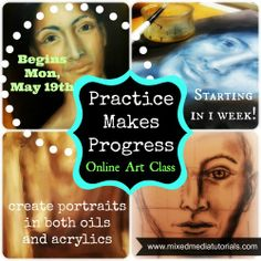 Online art class - painting portraits in oils and acrylics