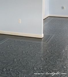 Amazing Painted Floors: A How-to ... want to do this in my kitchen!