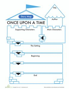Fairy Tale Story Map Worksheet
