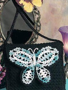Butterfly Crochet Handbag: Free Pattern
