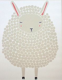 grey sheep print from Pink Olive
