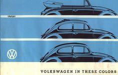1960/61 VW Beetle / Kever / Bug Colors