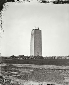 History In Pictures @HistoryInPics  The unfinished Washington monument as it stood for 18 years (1857-1875), due to lack of funds and the civil war