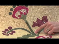 quilting around appliques on quilts   Longarm Lifelines: Quilting Around Applique - YouTube