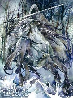 Ringwraith // Fantastic watercolor!