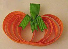 Pumpkin hair clip tutorial #DIY