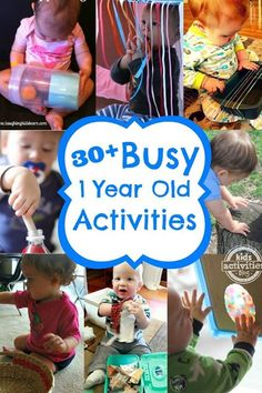 1 year old activities for busy babies!