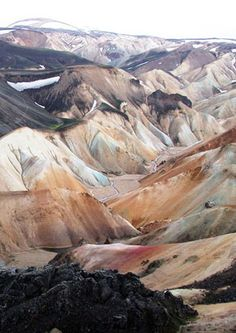 The coloured mountains of Landmannalaugar, Iceland