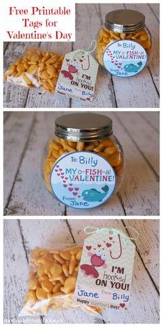 Free #Valentine Tags: o-FISH-al Valentine's!