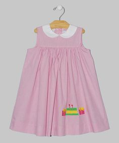 This Pink Birthday Babydoll Dress - Infant & Toddler by Vive La Fête is perfect! #zulilyfinds