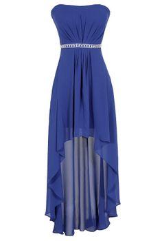 Blue hi low dress
