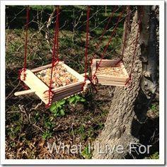 Popsicle Stick Bird Feeder @ whatilivefor.net