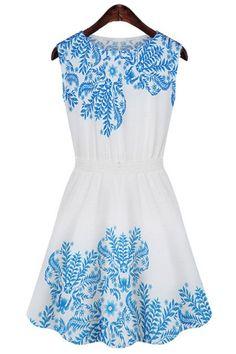 Porcelain Sleeveless Dress