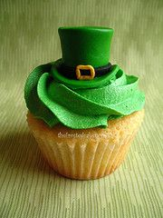 leprechaun hat cupcake for St. Patrick's day