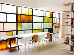 doug aitken, interior, acid modern, window, architectur, hous, stain glass, stained glass, home offices