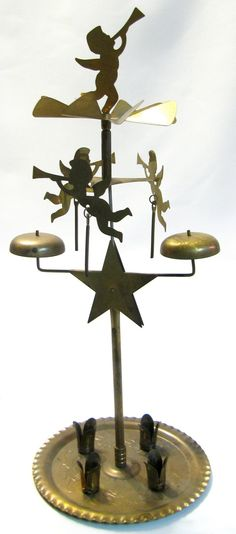 Vintage Christmas ANGEL CANDLE CHIMES with star made in Sweden