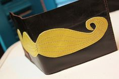 Leather Mustache Wallet