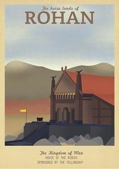 Rohan travel poster