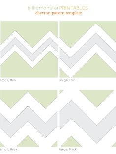 Chevron Pattern Printable Templates