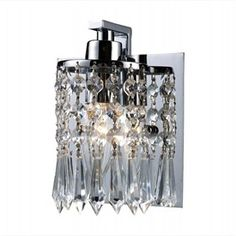 Optix Polished Chrome Bathroom Light - Item EL-11228-1