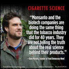 GMOs compared to cigarette labeling