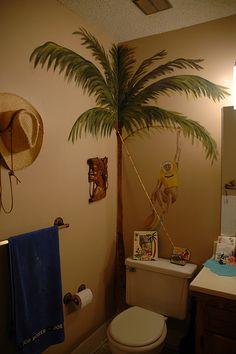 Mary's crazy tropical bathroom by Marshall Astor - Food Fetishist, via Flickr
