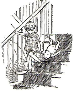 """""""If possible, try to find a way to come downstairs that doesn't involve going bump, bump, bump on the on the back of your head"""" ~ A. A. Milne"""
