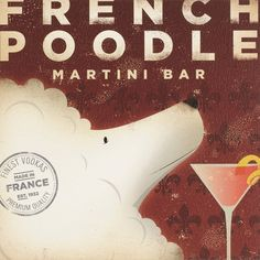 French poodle print