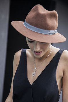 summer styles, street style, the dress, sombrero, summer outfits, necklac, fashion hats, wear, fedora