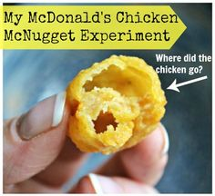 To everyone that doesnt think there's anything wrong with their chicken nuggets!!!!...... Mcdonalds Chicken McNugget Experiment - where did the chicken go?