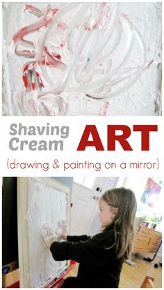 Shaving Cream Art :: Drawing and Painting on the Mirror