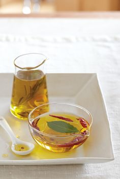 Weekend Project: Infused Olive Oil. Get the recipe for Chile-Lemon Olive Oil.