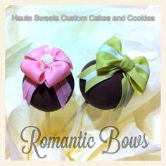 bow cake pops, romant bow, cake ball, cakes, bittl, pop cake, bows, cakepop, cake popper