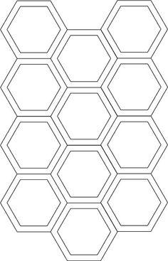 """Hexagon Cutting Template for 1"""" sided hexagons w/ a 1/4"""" seam allowance."""