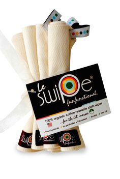 Le swipe 100% organic cotton wipes  http://www.lebibble.com #organic #clothdiapering #wipes