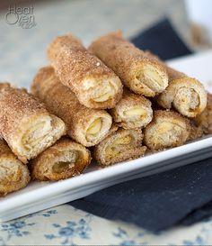 Cream Cheese Rollups with Cinnamon Sugar