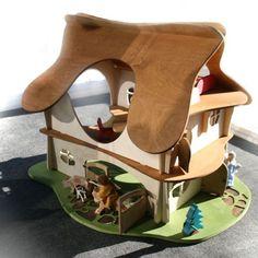 Waldorf wooden doll house from Bella Luna Toys, made by Twig Studio. $295.95 #waldorf #waldorftoys