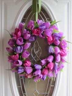Summer  Wreath, Tulip Wreath