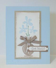CAS67 - Stamps: vase of flowers (Unity), sentiment (TAC) - 2010