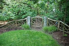 Rustic gate and fence