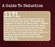 A Guide To Deduction. -SH