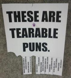 Terrible tearable puns...