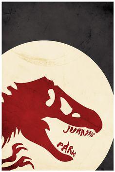 Jurassic Park  Minimal Movie Poster by Harshness