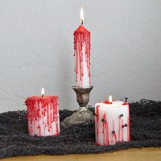 Oh the gore! DIY bleeding candles.#POPSUGARSmartLiving