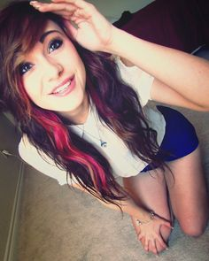 #black #red & #brown #dyed #hair #pretty