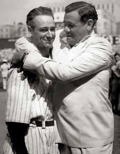Babe Ruth & Lou Gherig (r-l)