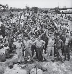 1945: News of a Japanese surrender reaches troops in the Philippines.